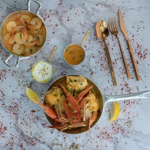 Shrimps-Crabs-Garlic